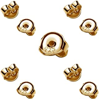 NKlaus 3 Paar 333 Wei/ßgold 8 Karat Gold 5,2mm Gegenstecker f/ür Ohrstecker Ohrringe Ohrstopper Pousetten Ohrmutter Butterfly Schmetterling Verschluss Loch 0,8mm 4821