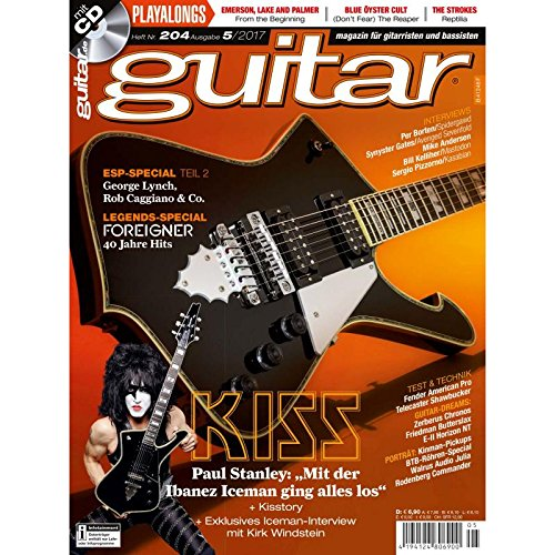 KISS - ESP Special Teil 2 - guitar Magazin mit Play along CD - Interviews - Workshops - Gitarre Playalongs - Gitarre Test und Technik