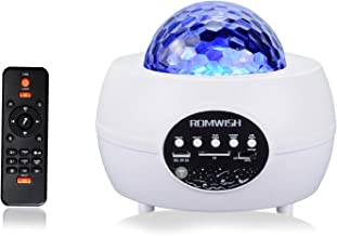 Galaxy Projector Light, Romwish LED Star Projector Nachtlampje Kleur Veranderende Muziekspeler met Bluetooth & Timer & Afs...