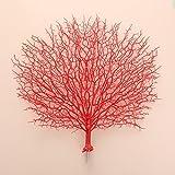 Kicode 46X50CM Pavo Real de la Flor Artificial de Coral Flores Falsas Windowsill Interior y Exterior para Las Plantas en Maceta de Flores Adornos de Navidad arreglo Arte