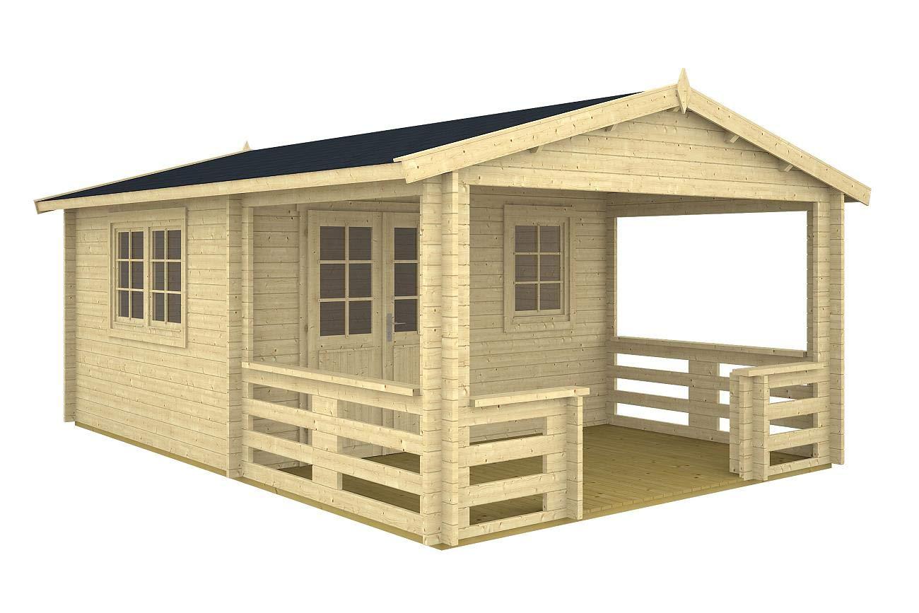 Jardín Casa Montana 40 (400 x 595 Cm 40 mm bloque madera casa: Amazon.es: Jardín