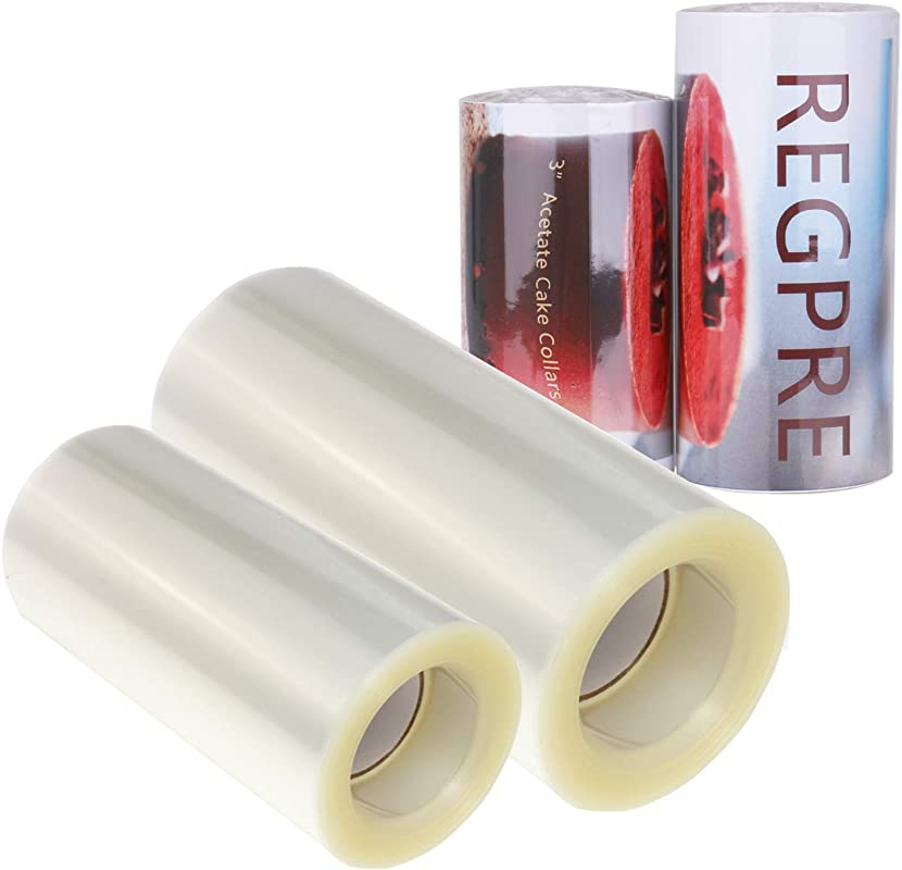 Clear Acetate Cake Collars 3 Inch And Cake Collar 4 Inch 32 8ft Roll Acetate Sheets For Baking Chocolate Mousse Set Of 2