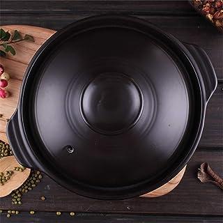 Dolsot Stone Bowl Coreano,Estufa Cacerola Cerámica Sizzling Hot Pot para Bibimbap Y Sopa Jjiage Comida Coreana Negro 700ml