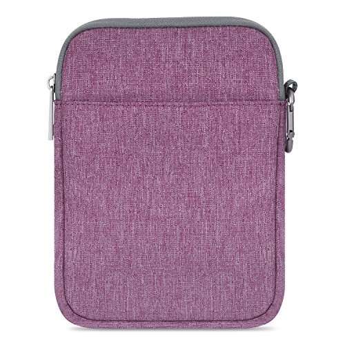 MoKo Sleeve for Kindle Paperwhite Kindle Voyage, 6-Inch Nylon Cover Pouch Bag for Amazon Kindle Paperwhite Voyage All-New Kindle(8th Generation, 2016)   Kindle Oasis E-Reader, Purple