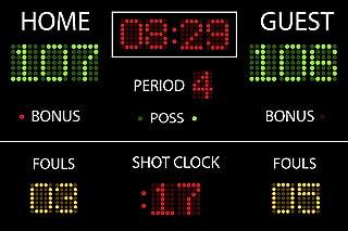 basketball scoreboard mural