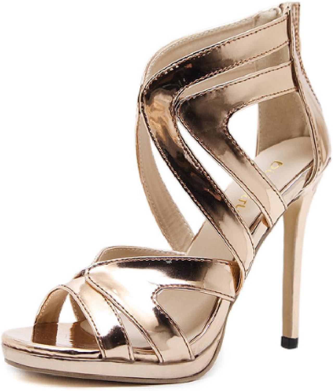 Btrada Women's Sexy Hollow High Heel Sandals Fashion Stiletto Ladies Back Zipper Pumps Dress shoes