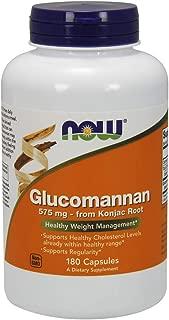 NOW Supplements, Glucomannan (Amorphophallus konjac)575 mg, 180 Count Capsules