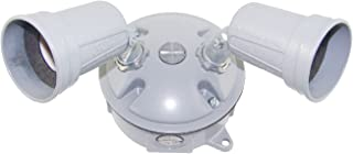 Made in USA Weatherproof Electrical Outlet Box, Lampholder & Box Cover Kit - White