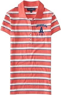 Aeropostale Womens Striped Logo Polo Shirt