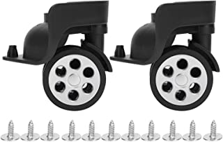 耐久性のあるブラックミュートキャスター交換用ホイールダブルロー耐摩耗性サイレントダブルローラーシールスーツケーストラベルケース用交換用ホイール