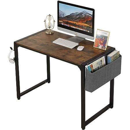 "Dafoecheer Computer Desk 39"" for Home Office with Storage Bag and Headphone Hook, Modern Design Simple Workstation PC Laptop Gaming Desk"