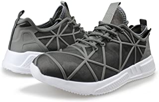 Men's Knit Running Shoes Breathable Lightweight Athletic Tennis Walking Gym Shoes