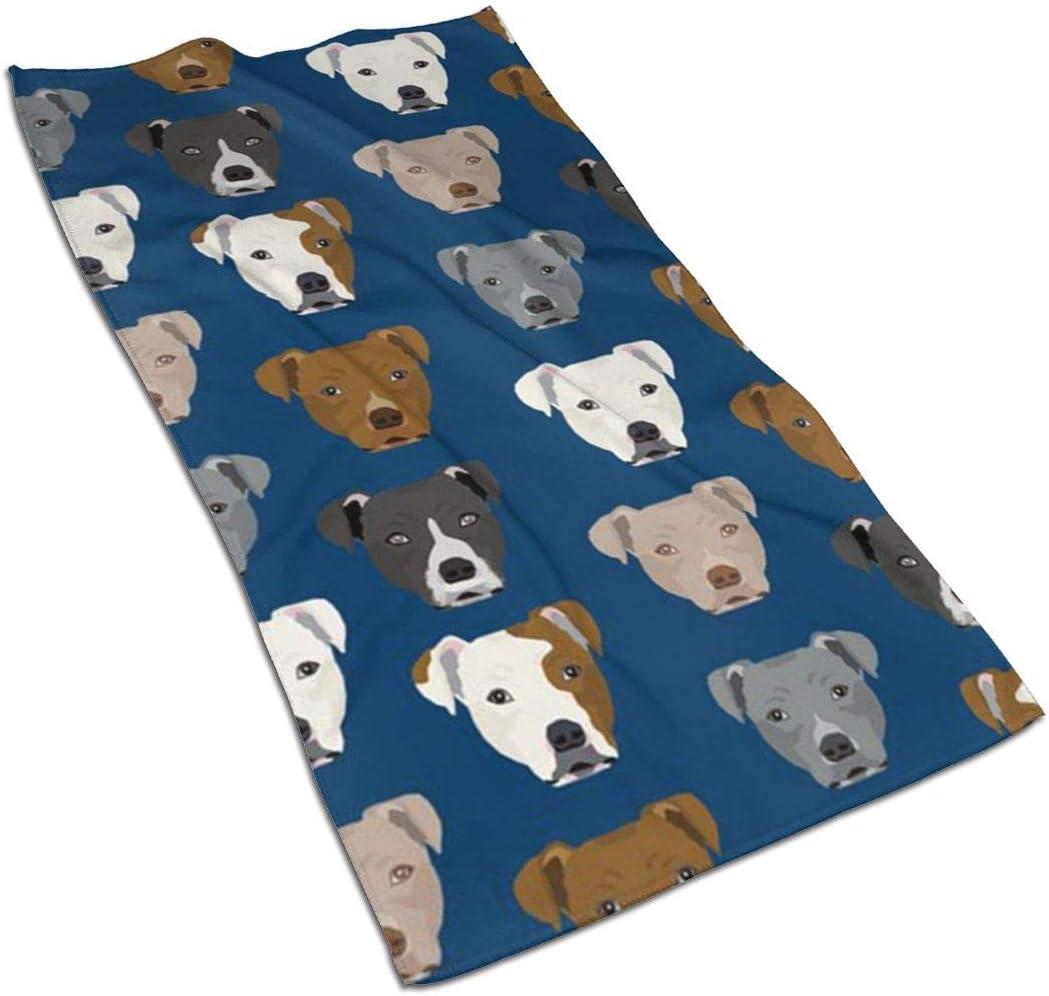 Pitbull Heads Kitchen Towels ¨C Terry Microfiber Portland Mall Dallas Mall 17.5X27.5in