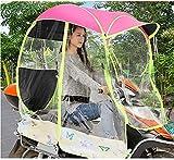 Copertura antipioggia universale per auto, motorino e motorino per moto, completamente chiuso, per motorino, scooter e parasole impermeabile (colore: rosa)