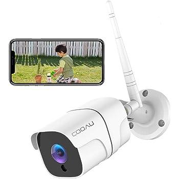 COOAU 防犯カメラ 屋外1080P 200万画素 WIFI/ワイヤレス ネットワークカメラIPカメラ 動体検知 警報 暗視撮影 IP66防水 双方向音声 遠隔操作 自動上書き 監視カメラ 見守りカメラios/android/windows対応 SDカード対応/クラウド保存 日本語アプリ 日本語説明書 白