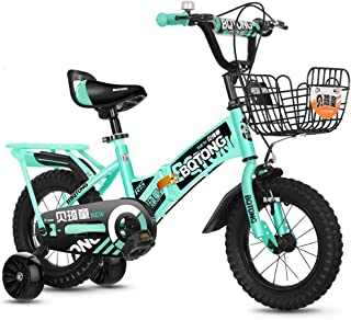 Kids' Bikes Children's Bicycle 2-12 Year Old Collapsible Baby Bicycle with Flash Training Wheel and Rear seat Anti-Rollover Bicycle with Brake 12/14/16/18 inch