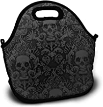 Lunch Tote Lunch Tas Halloween Bloemen Schedel Zwa...