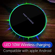 AODUKE Wireless Charger, 7.5W Wireless Charger for iPhone X/8/8 Plus,10W Fast Wireless Charging for Samsung Galaxy S9/S9 Plus/Note 8/ S8/S8 Plus, 5W for All Qi-Enabled Phones (No AC Adapter) (Black)