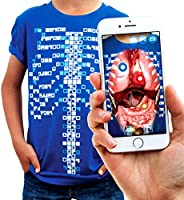 Virtuali-Tee | Educational Augmented Reality T-Shirt | Children: L, Blue