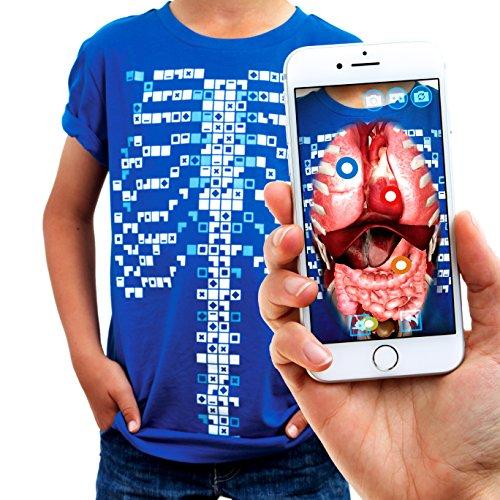 Curiscope Tee Educational Augmented Reality T-Shirt für Erwachsene, Größe S, Blau
