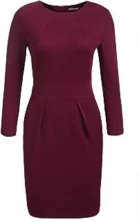 wine long sleeve dress