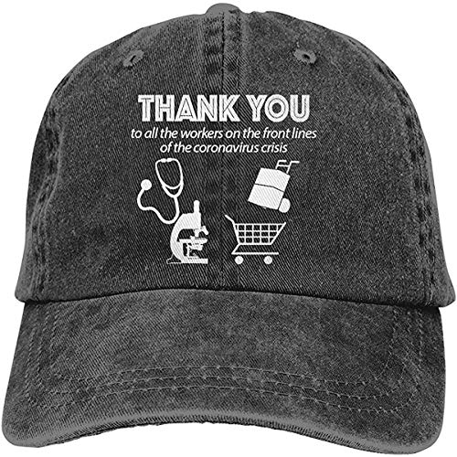 'N/A' Thank You to Heroes USA for Stopping Cor-Ona-Vir-Us Unisex Adjustable Cowboy Hat Denim Hats Dad Hat Snapback Hat