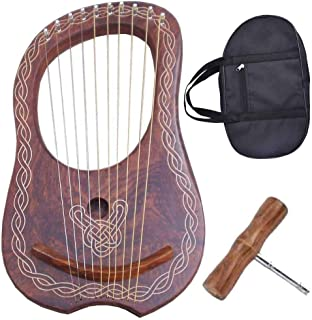 Traditional Irish Lyre Harp 10 Metal String Free String Set Various Designs (Celtic Piping)