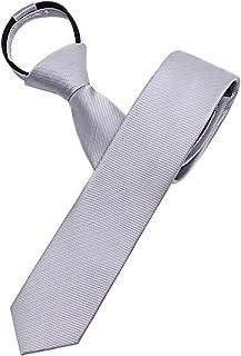 Men's Solid Color Slim Skinny Tie 2