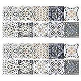 20 adesivi per piastrelle a mosaico, per pavimenti e piastrelle, per bagno e cucina, 20 x 20 cm