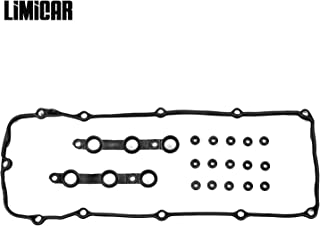 LIMICAR Engine Valve Cover Gasket Kits with Grommet Seals Compatible with 2002 2003 2004 2005 2006 BMW 325Ci 325i 325xi 330Ci 330i 330xi 525i 530i X3 X5 Z4 E46 E53 E60 E83 E85