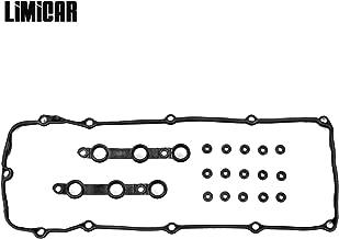 LIMICAR Engine Valve Cover Gasket Kits with Grommet Seals Compatible with 2002 2003 2004 2005 2006 BMW 325Ci 325i 325xi 330Ci 330i 330xi 525i 530i X3 X5 Z4 E46 E53 E60 E83 E85