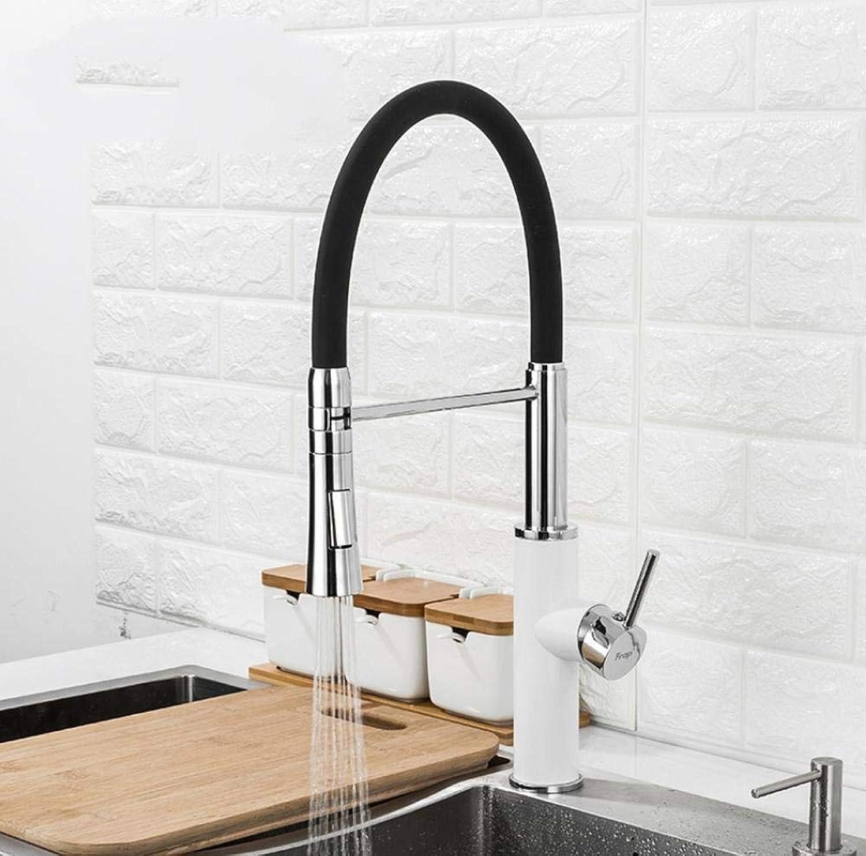 Küchenarmatur 2 Funktion Auslauf Küchenmischer Wasserhahn kaltes und warmes Wasser Waschbecken Wasserhahn Pull Down Wasserhhne schwarz