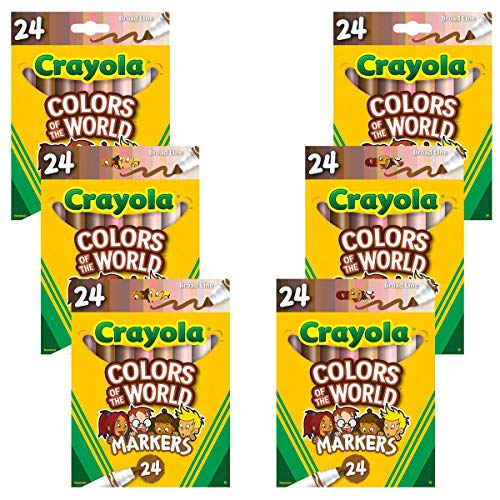 Crayola Colors of The World Markers 24 Pack, Washable Skin Tone Markers