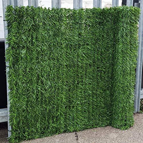 True Products Evergreen 1 x 3 m artificiel haie de conifères Plastique Clôture de jardin de dépistage de confidentialité – Vert