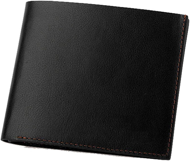 Kurze Brieftasche aus Leder Leder Brieftasche Bi-Fold Casual Brieftasche Brieftasche Brieftasche Schwarz Geburtstagsgeschenk (Farbe   SCHWARZ, größe   One Größe) B07PGMWVHW 4ff74e
