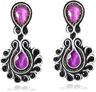 KPacTa Bohemian Earrings Jewelry for Women Soutache Handmade Drop Earrings XL-S005