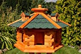 [page_title]-Vogelhaus Futterhaus Vogelvilla mit Solarbeleuchtung und Silo klein und Groß V16 (Grün, groß), Vogelfutterhaus