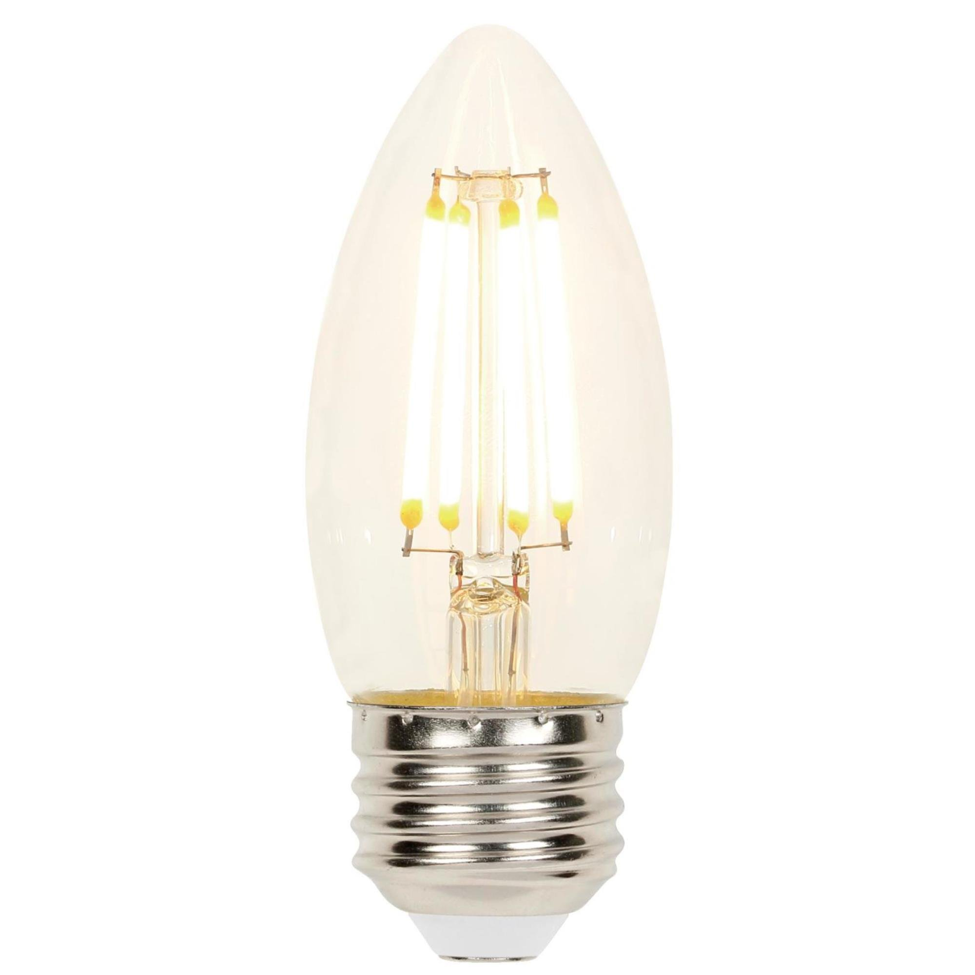Westinghouse Lighting 4316900 60W Equivalent B11 Dimmable Clear Filament LED Light Bulb with Medium Base Single Pack,