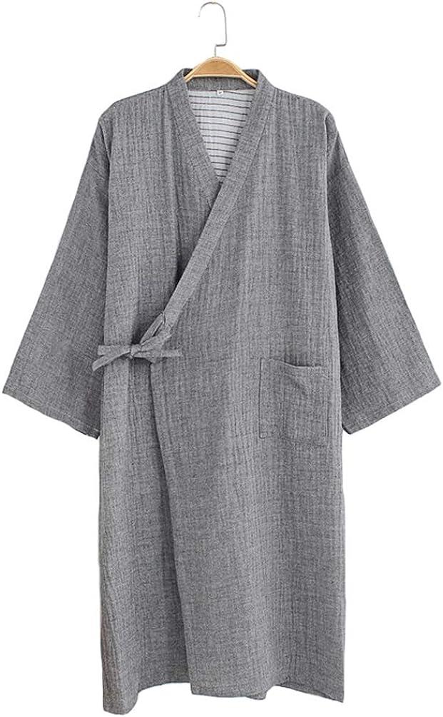 HAORUN Men Kimono Cardigan Yukata Japanese Traditional Bath Robe Nightwear Pajamas Home