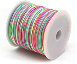 Limeow 90 m elastisch koord parels draad stretch parel string stof handwerk snoer regenboog gevlochten vislijn gevlochten ...