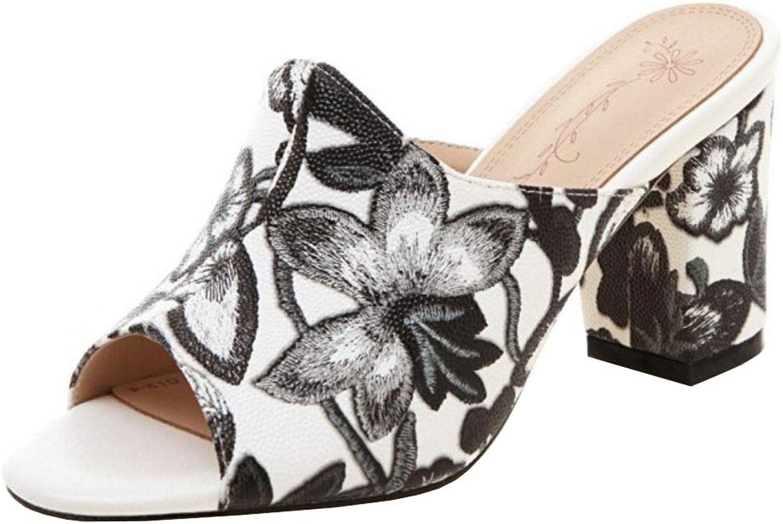 Gracemee Women Fashion Slip on Mules Sandals