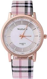 وميغ ساعة رسمية نساء انالوج بعقارب جلد - JH10522