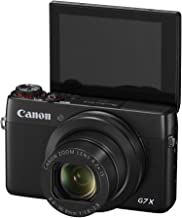 Canon PowerShot G7 X 20.2 MP CMOS Digital Camera with 4.2x optical Zoom (24mm-100mm), Built-in WiFi and NFC, 3 Inch Touchscreen, 1080P Video (Black) (Renewed)
