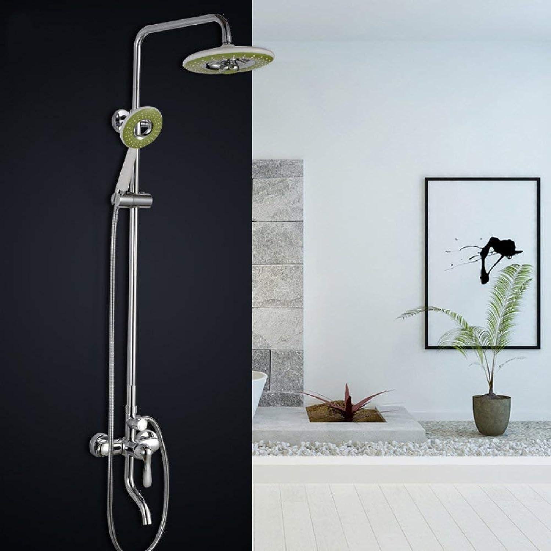 Shower set Copper Faucet Full Lift Third Gear Square Shower Bathroom Shower Set
