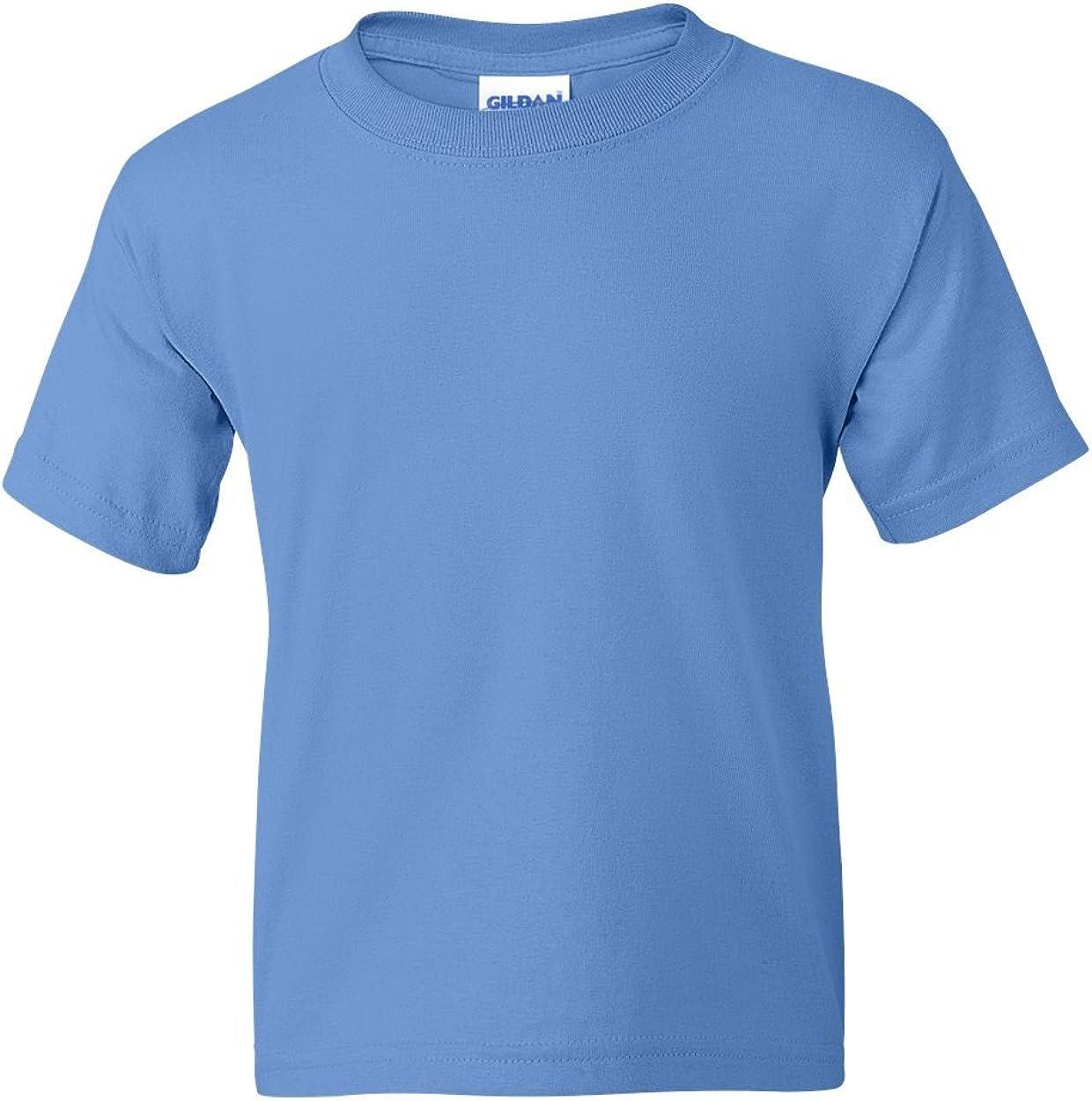 5.5 oz, 50/50 T-Shirt (G800B) Carolina Blue, M (Pack of 12)
