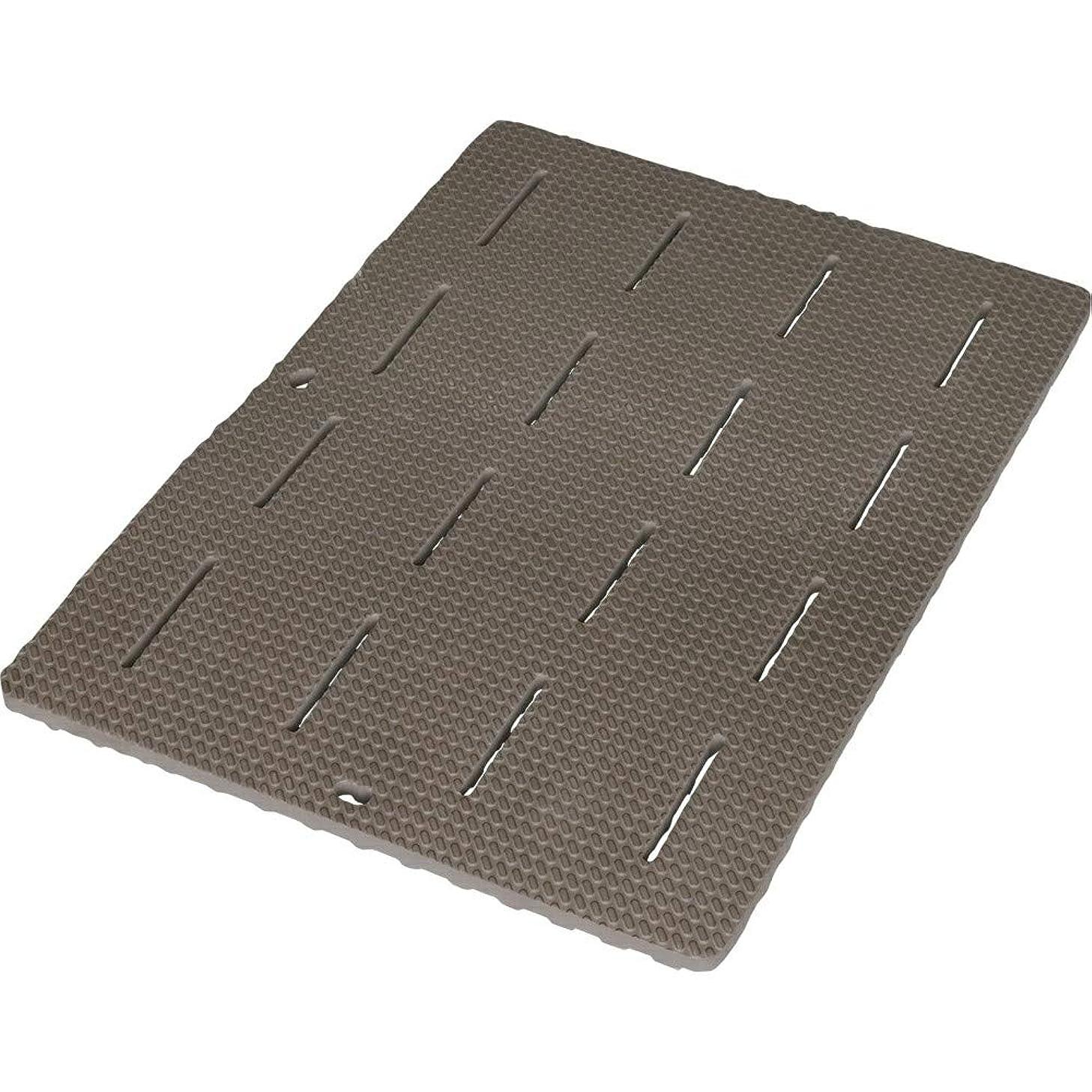 信頼性のあるそうでなければ端アイリスオーヤマ 風呂マット ブラウン 60×85×2cm BM-6085E