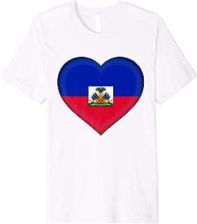 I Love Haiti T-Shirt   Haitian Flag Heart Outfit