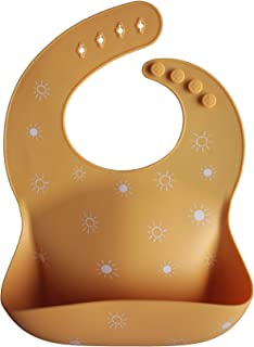 mushie Silicone Baby Bib | Adjustable Fit Waterproof Bibs