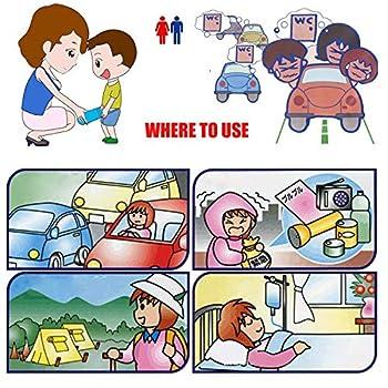 Sachet D'urine Jetable, Sac De Vomissure De Voiture d'urgence Portable pour Urine De Voyage en Plein Air pour Garçons Et Filles, 10 Packs