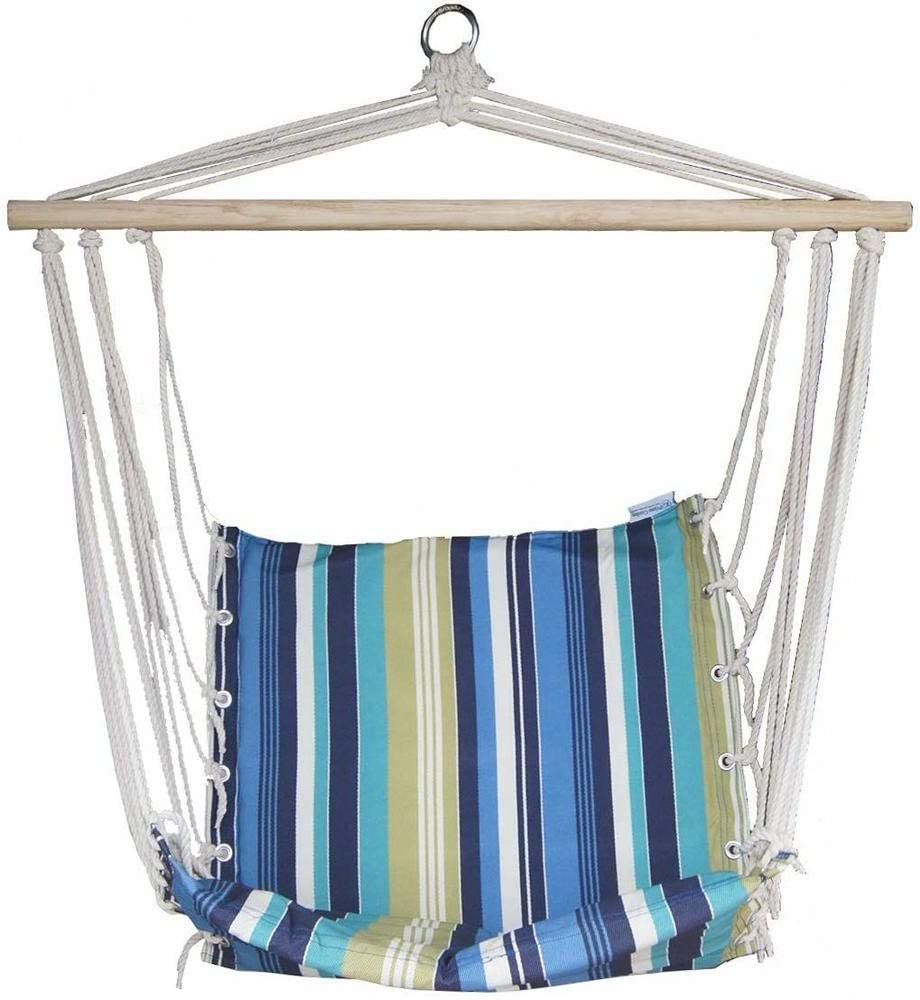 Popularity JUNELILY Colored Long Beach Mall Stripes Hammock Chair Indoors Outdoors for